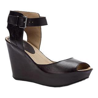 Women's Kenneth Cole Reaction Sole My Heart Sandal Black Leather