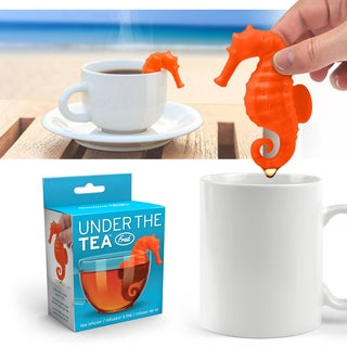 Fred & Friends Orange Sea Horse Under the Tea Silicone Loose Leaf Steeper Tea Infuser