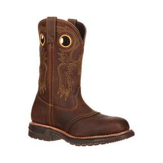 Men's Rocky Original Ride Steel Toe Western Work Boot 6029 Brown