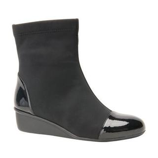 Women's Ros Hommerson Easton Wedge Ankle Boot Black Stretch Fabric