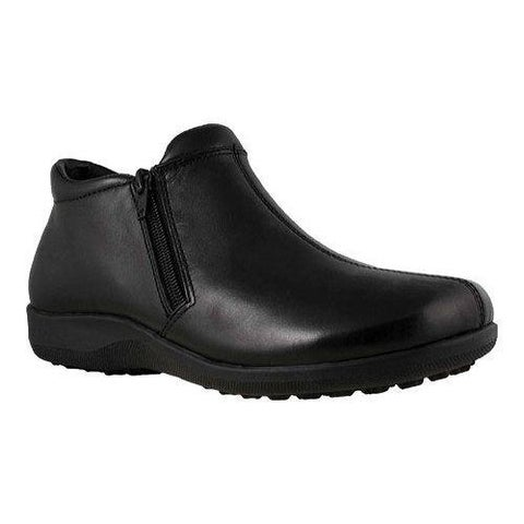 Women's Walking Cradles Zip Black Leather