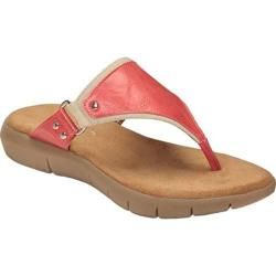 Women's A2 by Aerosoles Wip About Thong Sandal Coral Combination Faux Leather/Fabric