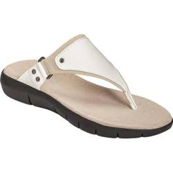 Women's A2 by Aerosoles Wip About Thong Sandal White Combination Faux Leather/Fabric