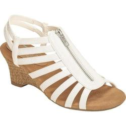 Women's Aerosoles Half Dozen Sandal White Snake Faux Leather