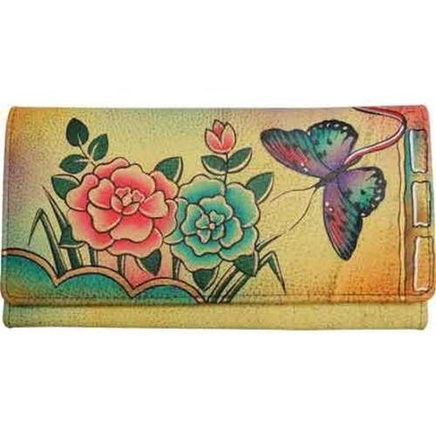 Women's ANNA by Anuschka Ladies Clutch Wallet 1701 Antique Rose