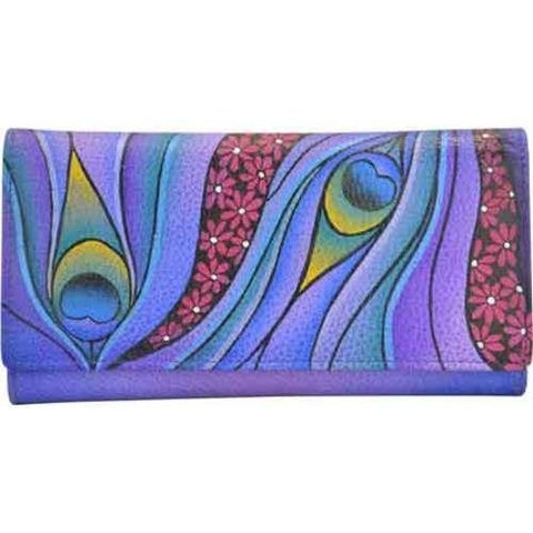 Women's ANNA by Anuschka Ladies Clutch Wallet 1701 Dreamy Peacock