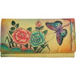 Women's ANNA by Anuschka Ladies Clutch Wallet 1701 Antique Rose|https://ak1.ostkcdn.com/images/products/118/497/P18777088.jpg?impolicy=medium