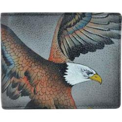 Men's Anuschka Hand Painted Two Fold Organizer Wallet American Eagle