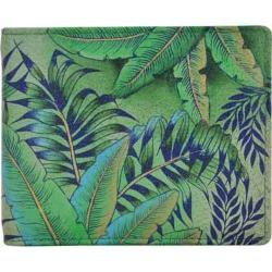 Men's Anuschka Hand Painted Two Fold Wallet Tropical Island