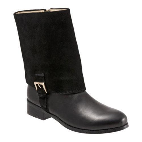 Women's Trotters Limona Boot Black Full Grain Nappa Leather/Cow Suede