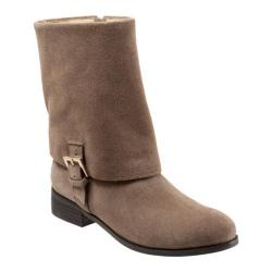 Women's Trotters Limona Boot Dark Taupe Cow Suede