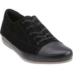 Women's Clarks Lorry Grace Lace Up Shoe Black Combination Suede/Leather