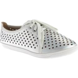Women's Easy Spirit Dafina Lace Up Silver/White Synthetic