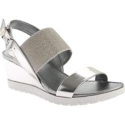 Women's Easy Spirit Hagano Wedge Sandal Silver/Silver Synthetic
