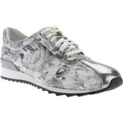 Women's Easy Spirit Lexana Sneaker Black Multi/Silver Fabric