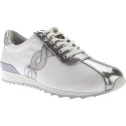 Women's Easy Spirit Lexana Sneaker White/Silver Fabric