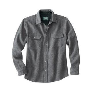 Men's Woolrich Wool Alaskan Shirt New Grey