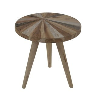 Haukea Round Nesting Table With Wood Pin legs