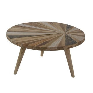 Halia Round Nesting Table With Wood Pin legs
