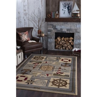 Alise Rugs Natural Ivory Novelty Area Rug (3'11 x 5'3)