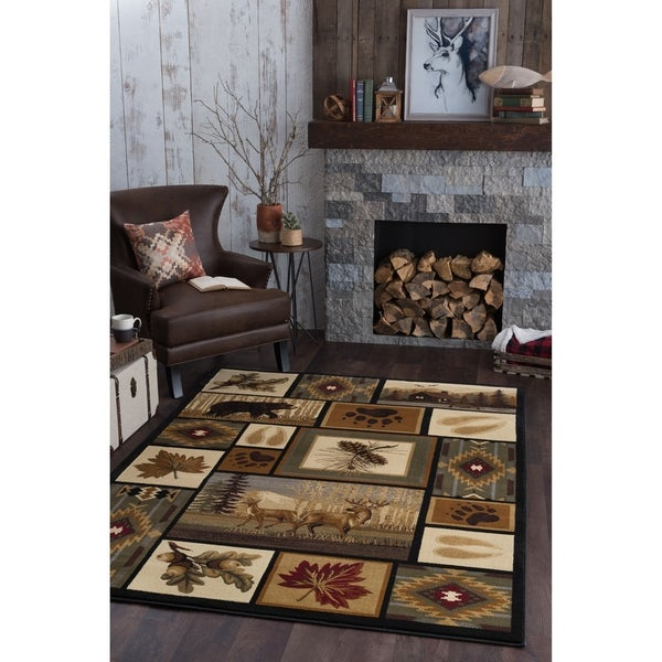Alise Rugs Natural Multi Novelty Area Rug (3'11 x 5'3)