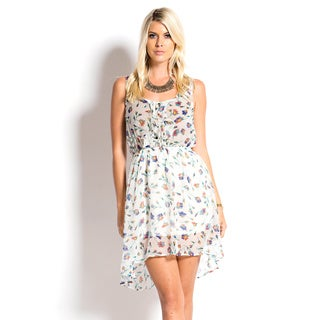 Tea n Rose Ruffled Bodice Floral Print Elasticized Waist Mini Dress