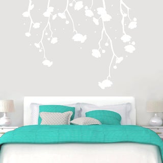 Hanging Flowers Wall Decals 72-inch wide x 56-inch tall