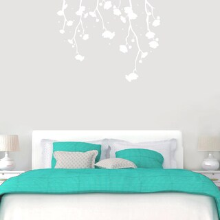 Hanging Flowers Wall Decal 48-inch wide x 38-inch tall