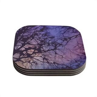 Kess InHouse Alison Coxon 'Violet Skies' Coasters (Set of 4)