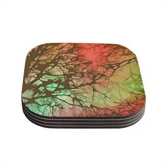 Kess InHouse Alison Coxon 'Fire Skies' Coasters (Set of 4)