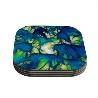 Kess InHouse Alison Coxon 'Leaves' Coasters (Set of 4)