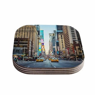 Kess InHouse Ann Barnes 'Sunset Over 7th' Urban Photography Coasters (Set of 4)