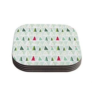 Kess InHouse Allison Beilke 'Pining for Christmas' Christmas Holiday Coasters (Set of 4)
