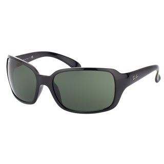 Ray-Ban RB 4068 601 Black Plastic Fashion Green Lens Sunglasses