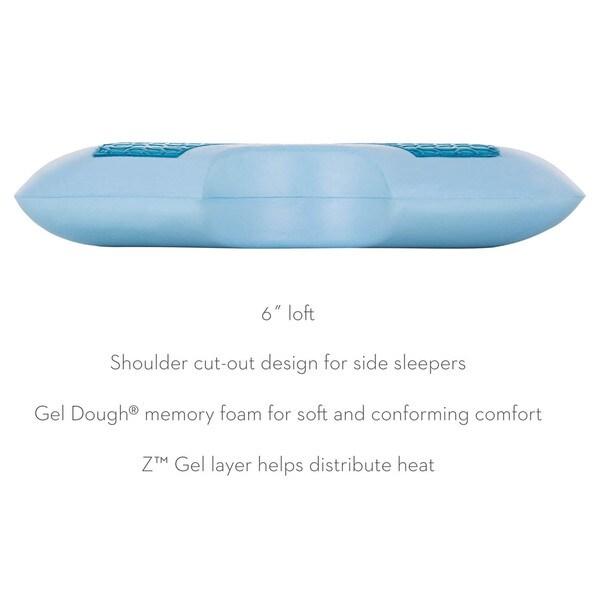 z by malouf side sleeper z gel gel memory foam pillow free shipping today