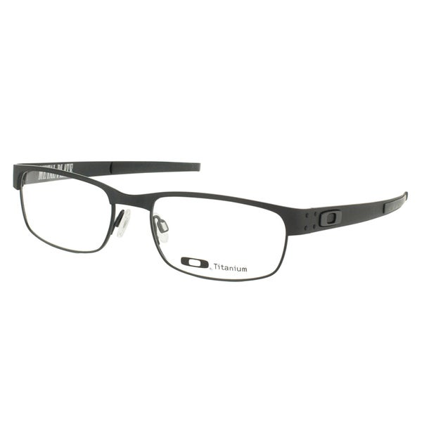 612f902ffb5 Oakley Metal Plate OX5038-0555 Matte Black Rectangle 55mm Eyeglasses