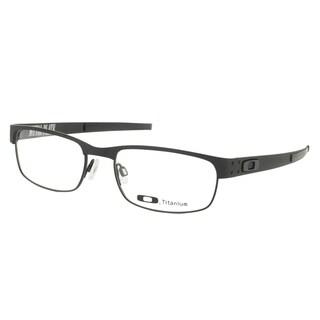 Oakley Metal Plate OX5038-0555 Matte Black Rectangle 55mm Eyeglasses
