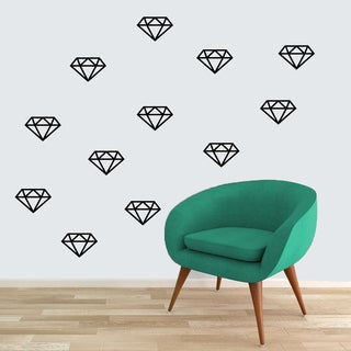 Set of Diamonds Wall Decals Large