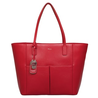 Ralph Lauren Newbury Red Pocket Tote Bag