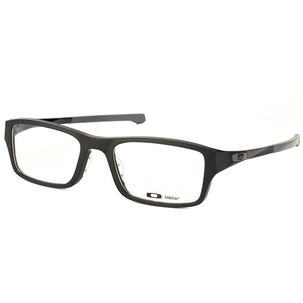 6060657881 Oakley Chamfer OX8039-0151 Satin Black Rectangle 51mm Eyeglasses. Click to  Zoom