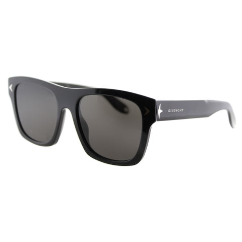 Givenchy GV 7011 807 NR Black Plastic Rectangle Grey Lens Sunglasses