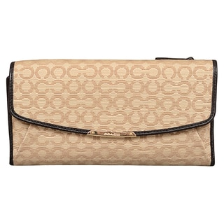 Coach Madison Op Art Needlepoint Checkbook Wallet