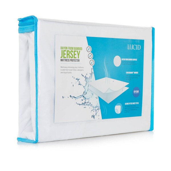 Lucid Rayon from Bamboo Jersey Waterproof Fitted Mattress Protector