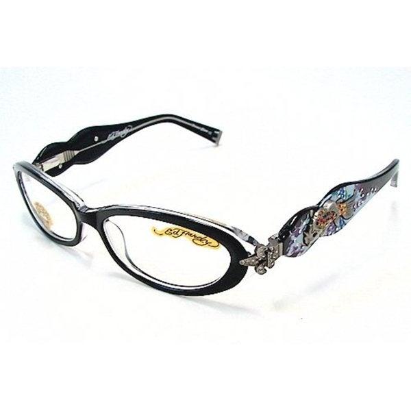 fb11cdb298 Shop Ed Hardy Women s EHO-709 Black   Crystal Designer Eyeglasses ...