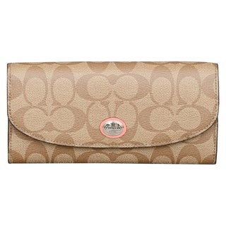 Coach Peyton Multistripe Slim Envelope Wallet with Pouch