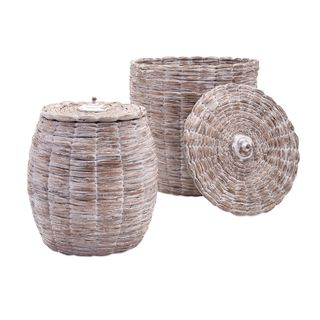 Cassiel Lidded Baskets (Set of 2)