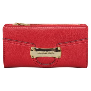 Michael Kors Saratoga Red Top Zip Wallet