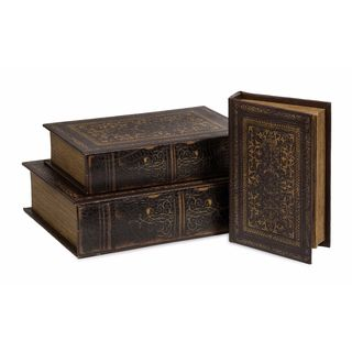 Old World Book Box Collection (Set of 3)