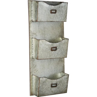 Galvanized Iron Wall Hanging File Holder