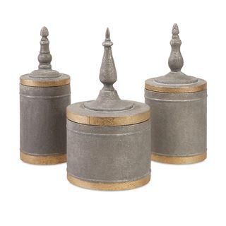 Katrina Metal Lidded Boxes (Set of 3)